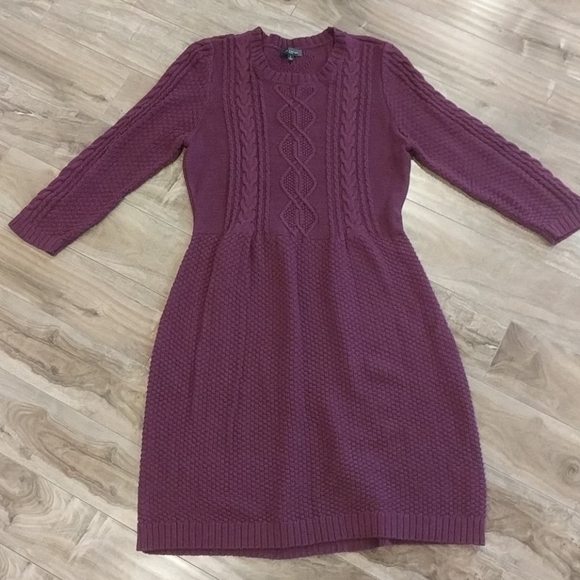 ❄️3/$25 LIMITED Purple Cable Knit Sweater Dress
